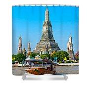 War Arun - Bangkok Shower Curtain