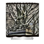 War Eagles - 88th Pa Volunteer Infantry Cameron Light Guard-d1 Oak Hill Autumn Gettysburg Shower Curtain