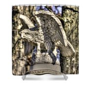 War Eagles - Vermont Company F 1st U. S. Sharpshooters-a1 Pitzer Woods Gettysburg Shower Curtain by Michael Mazaika