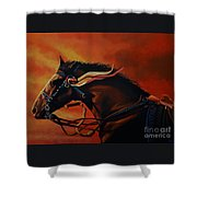 War Horse Joey  Shower Curtain by Paul Meijering