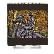 War Horses - Lieutenant General James Longstreet Commanding First Corps Gettysburg Shower Curtain