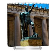 War Memorial Statue Youth In Nashville Shower Curtain