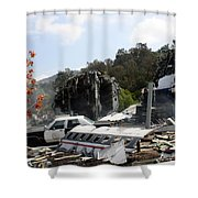 War Of The World's Shower Curtain