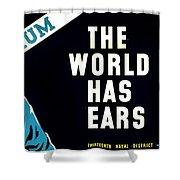 War Poster - Ww2 - Keep Mum Shower Curtain