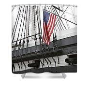 War Ship Shower Curtain