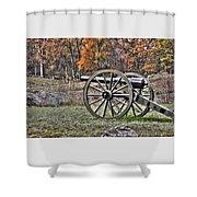 War Thunder - 4th New York Independent Battery Crawford Avenue Gettysburg Shower Curtain