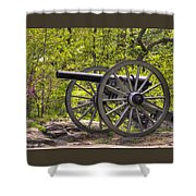 War Thunder - 5th United States Artillery Hazletts Battery - Little Round Top Gettysburg Spring Shower Curtain