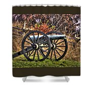 War Thunder - The Morris Artillery Page's Battery Oak Hill Gettysburg Shower Curtain