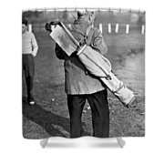 War Time On The Golf Course Shower Curtain