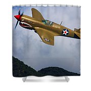 Warhawk Curtiss P-40  Shower Curtain