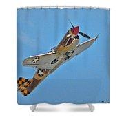 Warhawk Fighter Shower Curtain