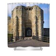 Warkworth Castle Gate House Shower Curtain