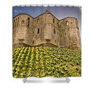Warkworth Castle In The Sky Shower Curtain