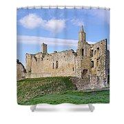 Warkworth Castle Panorama Shower Curtain
