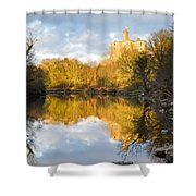Warkworth Castle Reflected Shower Curtain