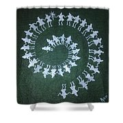 Warli On Handmade Paper Shower Curtain