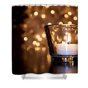 Warm Christmas Glow Shower Curtain