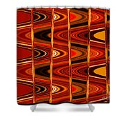 Warm Colors Lines And Swirls Abstract Shower Curtain