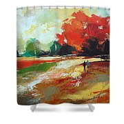 Warm Fall Day 2 Shower Curtain