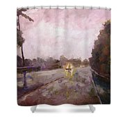 Warm Rain Shower Curtain