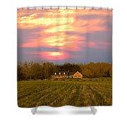 Warm Spring Sunset Shower Curtain