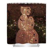 Warm Weather Snowman Shower Curtain