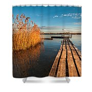 Warm Winter Afternoon Shower Curtain