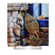 Warm Winter Wishes Shower Curtain