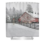 Warmest Holiday Wishes Shower Curtain