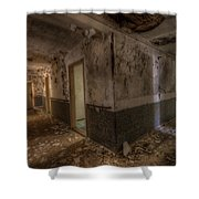 Warn Corner Shower Curtain