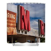 Warning M Rine Shower Curtain