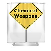 Warning Sign Chemical Weapons Shower Curtain