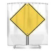 Warning Sign Shower Curtain