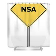 Warning Sign Nsa Shower Curtain