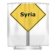 Warning Sign Syria Shower Curtain