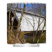 Warnke Covered Bridge  Shower Curtain