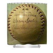 Warren Spahn Baseball Autograph Shower Curtain