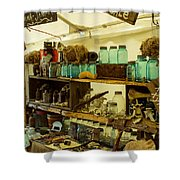 Warrenton Antique Days Eclectic Display Shower Curtain