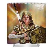 Warrior Bride Of Christ Shower Curtain