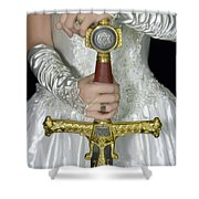 Warrior Bride Of Christ Shower Curtain by Constance Woods