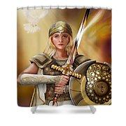 Warrior Bride Shower Curtain