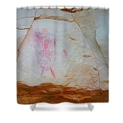 Warrior With Shield Pictogram Shower Curtain