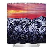 Wasatch Sunrise 3x1 Shower Curtain