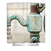 Wash Your Hands Child's Bathroom Decor Shower Curtain