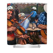 Washboard Lissa On Fiddle Shower Curtain