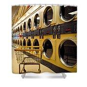 Washing Machines At Laundromat Shower Curtain