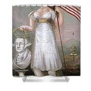 Washington & Liberty, C1810 Shower Curtain
