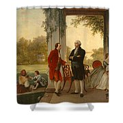 Washington And Lafayette At Mount Vernon Shower Curtain