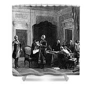 Washington And Lafayette Shower Curtain