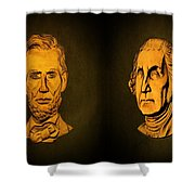 Washington And Lincoln Shower Curtain